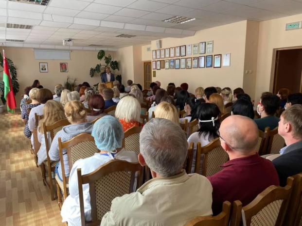 Встреча в Мозыре с работниками учреждения здравоохранения
